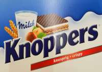 Knoppers, Milch Haselnuss Schnitte, 24 Riegel in Box